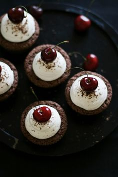 call me cupcake! - food  drink - food - dessert - chocolate cherry cupcakes food-dessert food food food