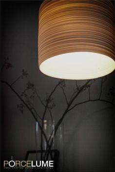 Porcelain light shade by Colin Hopkins @ www.porcelume.com.au Pendant Lighting, Light Pendant, Jar Storage, Light Shades, Tiles, Porcelain, Pottery, Concept, Decorations