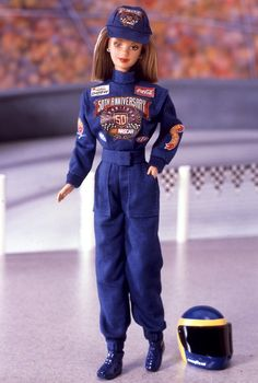 50th Anniversary NASCAR Barbie Doll. Grandad brought me this back from the US when I was a kid #memories #missmygrandad