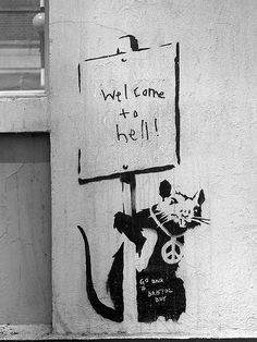 Banksy Rat London 2004 but could be the Bronx Banksy Graffiti, Arte Banksy, Banksy Rat, Banksy Artwork, Banksy Canvas, Street Art Banksy, Bansky, Graffiti Artists, Amazing Street Art