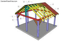 Building a pavilion Backyard Pavilion, Outdoor Pavilion, Backyard Gazebo, Backyard Patio Designs, Backyard Landscaping, Backyard Ideas, Diy Gazebo, Hot Tub Gazebo, Gazebo Plans