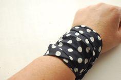 Rockabilly Dark Blue Dotted Wrap Bracelet Iron Wire Wrist Wrap Wrist Bracelet Fashion accessory Women Teens Wrist Tattoo Cover by stunninglooks on Etsy