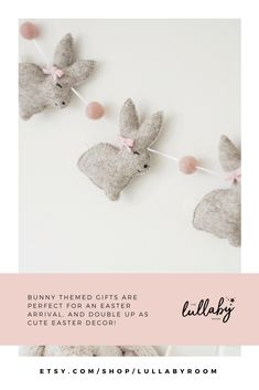 Handmade bunny rabbit nursery decor is such an easy way to add a touch of whimsy to a room. Bunny nursery theme. Bunny party gifts #bunny #nurserydecor #babygift #babyroom