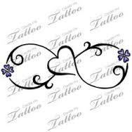 Infinity  Love  Lilacs Tattoo Soft and floral  Infinite
