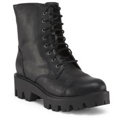 Chunky Platform Lace Up Boot