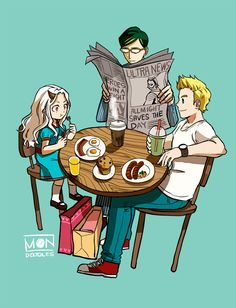 Horikoshi-sensei don't play with our hearts like this ;;;; Mirio and Nighteye taking Eri out in the city to buy clothes and having brunch(?). Still can't get over the recent update EDIT: Realized All Might was on the newspaper (after what happened)...