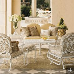 Need some new patio furniture this summer...would love somethign white and very neutral like this..gorgeous!
