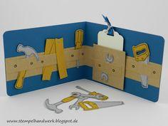 Stempelhandwerk: Gutscheinverpackung Baumarkt, Stempelset HAMMER mit Thinlits Werkzeugkasten! Stampin´Up