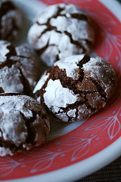 The Great Holiday Bake-a-thon, Pt 1 - Chocolate-Mint Crackle Cookies - Crumb: A Food Blog