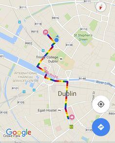 Google Maps fica colorido para a Parada Gay de Dublin 2016