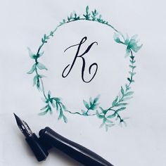 I just decided to make this a simple wreath :) #calligrafikas #dippen #nibs