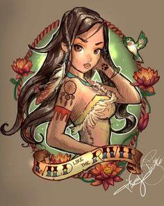 Disney princess tattoo #Pocahontas