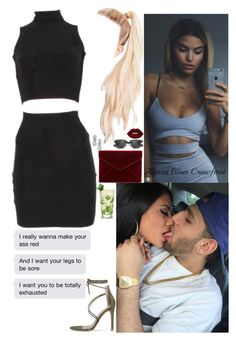 """""""She don't fucck with me when i'm in the city, yeah."""" by allie-blair ❤ liked on Polyvore featuring Ray-Ban, Rebecca Minkoff and Lime Crime"""