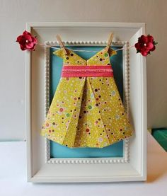 DIY Origami Dress Tutorial DIY Paper Dolls Dress DIY Crafts