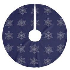 Snowflakes Christmas Tree Skirt http://www.zazzle.com/snowflakes_christmas_tree_skirt-256030117180042335?rf=238271513374472230  #christmas  #christmasdécor #treeskirts
