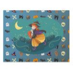 Witch for child panel wall art #halloween #happyhalloween #halloweenparty #halloweenmakeup #halloweencostume