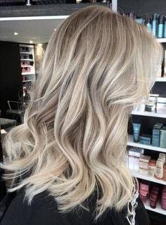 Ash blonde waves blonde balayage