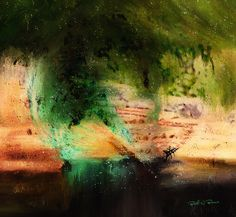 Abstratic  Abstrato  -  Digital Painting  Pintura Digital  -  Elizabeth Barros