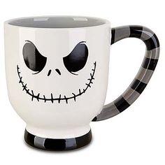 Your WDW Store - Disney coffee Cup Mug - Jack Skellington - White Stripes