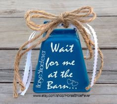 At the Barn. Decorative Cowbell. Western Home by HorseShoeFever. Love, Hearts, Wedding Bells, Etsy, Cattle, Wedding Decor, Custom, Western, Cowgirl, Vinyl, Farmhouse, Lodge, Cabin