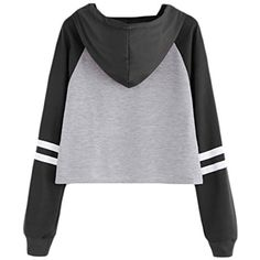 Womens Crop Top Letter Print Hooded Pullover Sweartershirt * Learn more by visiting the image link. (This is an affiliate link and I receive a commission for the sales) #FashionHoodiesSweatshirts