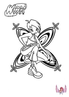 Tecna Winx Club Coloring Pages For Girls Printable Free 06
