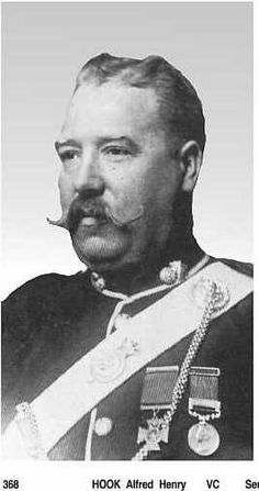 "Alfred Henry ""Harry"" Hook VC (6 August 1850 – 12 March 1905) was an English recipient of the Victoria Cross for his actions at the Battle of Rorke's Drift, the highest and most prestigious award for gallantry in the face of the enemy that can be awarded to British and Commonwealth forces."