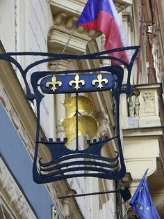 Ship sign, Prague.  PICT8598 levels by StevenC_in_NYC, via Flickr