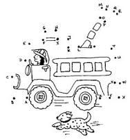 connect dots alphabet firetruck - /education/coloring_pages/connect_the_dots/connect_dots_alphabet_firetruck. Preschool Worksheets, Preschool Learning, Kindergarten Activities, Printable Worksheets, Printables, Truck Coloring Pages, Coloring Books, Fireman Crafts, Maternelle Grande Section