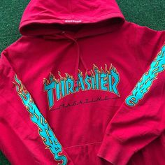 Supreme x Thrasher Flames Hoodie Cute Lazy Outfits, Trendy Outfits, Cool Outfits, Fashion Outfits, Stylish Hoodies, Cool Hoodies, Thrasher Outfit, Hoodie Outfit, Mode Vintage