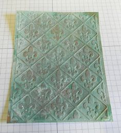 Gingersnap Creations: Shelly Hickox: Faux Copper Verdigris