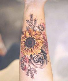 39 Impressive Black And White Sunflower Tattoo Ideas 39 Impressive Black And White Sunflower Tattoo Ideas,Tattoos, Piercings and Bodymods Dream Tattoos, Love Tattoos, Body Art Tattoos, New Tattoos, Small Tattoos, Tatoos, Awesome Tattoos, Tattoo Art, Feminine Tattoos