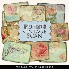Far Far Hill: New Freebies Kit of Vintage Style Labels