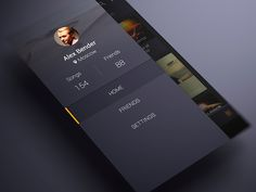 Android music App Material design Sidebar by ALEX BENDER