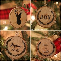 personalized wood slice christmas ornaments gifts, christmas decorations, crafts, seasonal holiday d cor, DIY Wood Slice Christmas Ornaments...