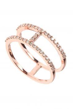 rose gold diamond ring I designed by meira t I NEWONE-SHOP.COM