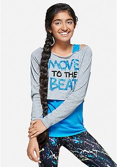 Move To The Beat Sparkle 2fer Top