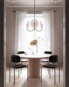 Aperture 4 Blackened Brass, Opal Project by Romanovakn Arch Interior, Modern Interior Design, Dining Room Design, Dining Set, Casual Dining Rooms, Bar Seating, Glass Domes, Aperture, Modern Classic