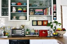Colourful kitchen in LA by Stylist and Decorator Emily Henson.