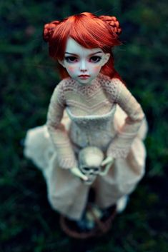 Fantasy | Whimsical | Strange | Mythical | Creative | Creatures | Dolls | Sculptures | in the garden | by dolls of milena