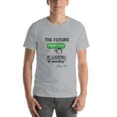 Future Fridays Short-Sleeve Unisex T-Shirt Friday T Shirt, High Quality T Shirts, Air Force Ones, Save The Planet, Fabric Weights, Female Models, Shirt Designs, Short Sleeves, Government Shutdown