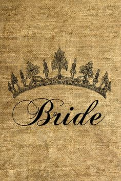 Bride Tiara  Download and Print  Image Transfer  Digital by room29, $1.00