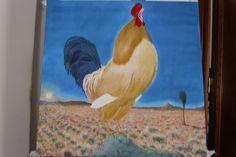 """#""""cantar del gallo""""#oleo sobre lienzo#carlosjmaza"""