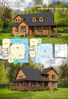 small cabin home plan with open living floor plan house plans rh pinterest com