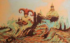 "Saatchi Art Artist Youri Chasov; Painting, ""Venice Masquerade"" #art"