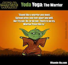 Fitness Motivation Yoda Yoga: Warrior II pose