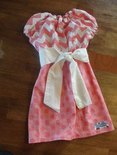 Charming Girls Peasant Dress in Pink and by JustSewStinkinCute, $42.00