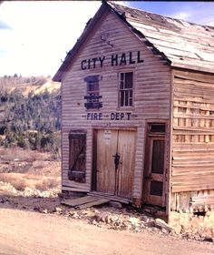Building in old mining town near Central City, Colorado. Photo taken in the sixties