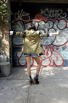 Leandra Medine aka ManRepeller in our collabo military jacket !