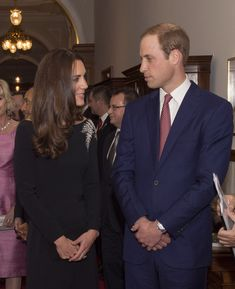 Catherine, Duchess of Cambridge and Prince William, Duke of Cambridge attend an art unveiling of a portrait of Queen Elizabeth II by New Zea...